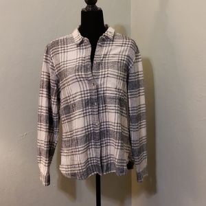 American Eagle Outfitters flannel button d…